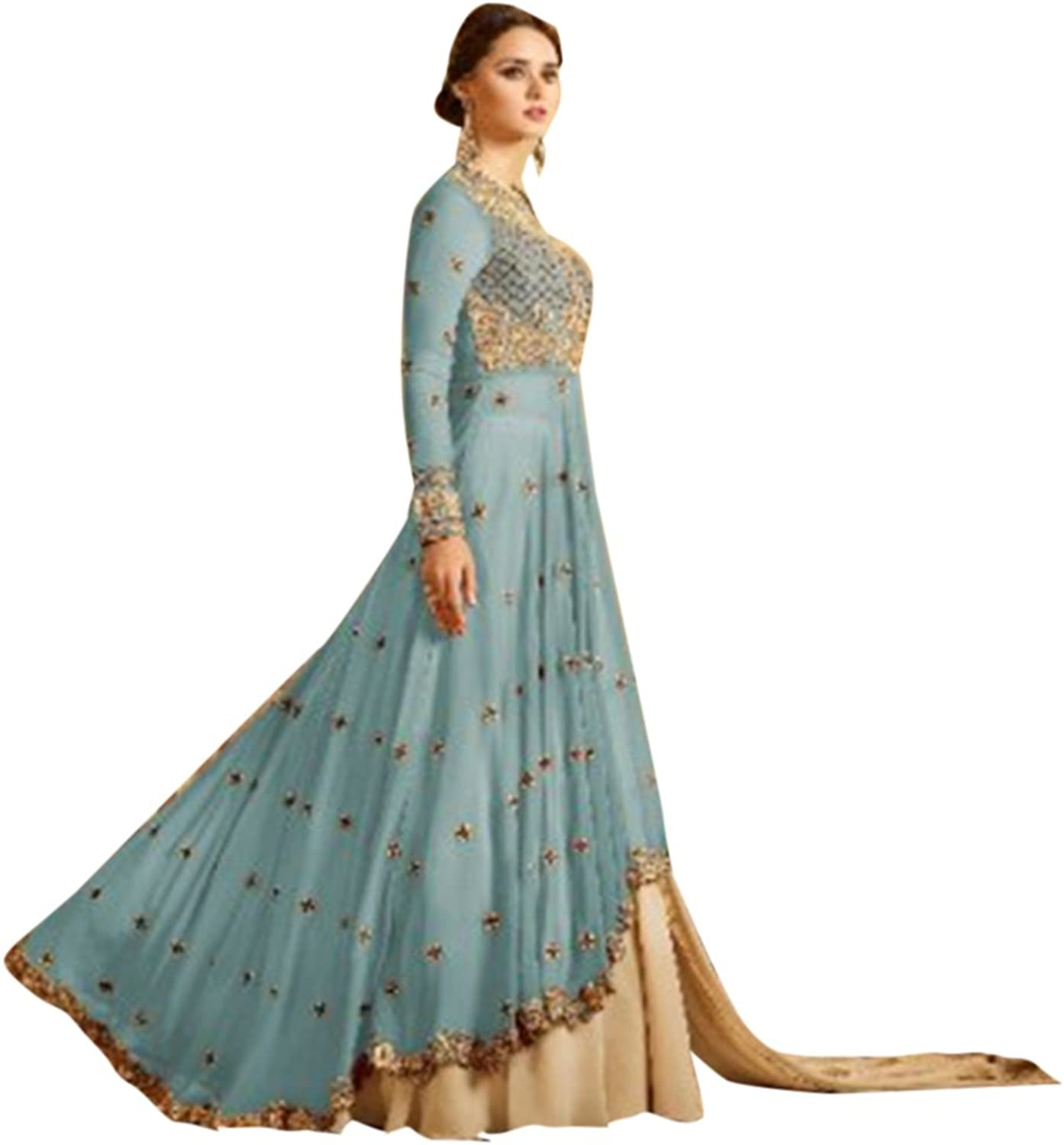 Bollywood Wedding Women Designer Party Floor Length Anarkali Suit with Pant Style Grown Dress 2793