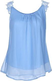 c5a92d6788cc5 Women Plus Size Solid Floral Sleeveless Square Neck Vest Tanks Top Blouse  Men T Shirt Pullover