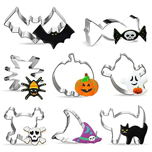 Formine Biscotti Halloween Set di 8 Stampi Biscotti Halloween, Biscotto Formine Stampini In Acciaio Inossidabile per Halloween