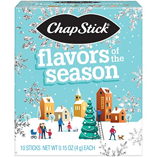 ChapStick Holiday Storybook Holiday Flavored Lip Balm Gift Set, Holiday Lip Balm for Lip Care, Stocking Stuffer (10 Pack)