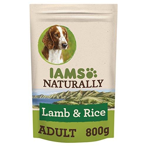 Iams natuurlijke hond met Nieuw-Zeeland lam en rijst, compleet en uitgebalanceerd hondenvoer met natuurlijke ingrediënten, 3 x 800 g