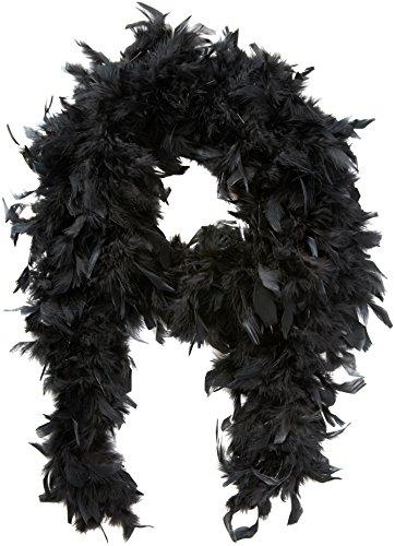 Boland 52601 - Emplumada Boa Lujo 180 cm, 80 g, Negro