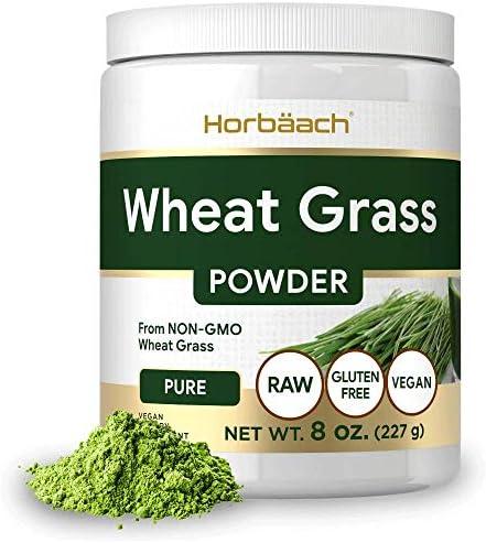 Wheatgrass Powder 8oz Vegan Raw Non GMO Gluten Free Wheat Grass Superfood Powder by Horbaach product image