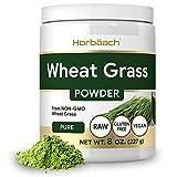 Wheatgrass Powder | 8oz | Vegan, Raw, Non GMO & Gluten Free Wheat Grass Superfood Powder | by Horbaach