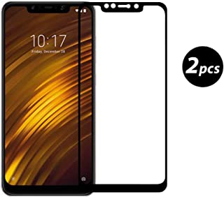 Xiaomi Pocophone F1 Protector de Pantalla, [2 Pack] Xiaomi Pocophone F1 Vidrio Templado [9H Dureza] [Alta Definicion 0.3mm] [2.5D Round Edge]