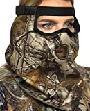 DOWN UNDER OUTDOORS Premium Camo Hunting Face Mask in Heavyweight Jersey Fleece for Winter and Cold Weather, Adjustable Size for Men, Women and Kids