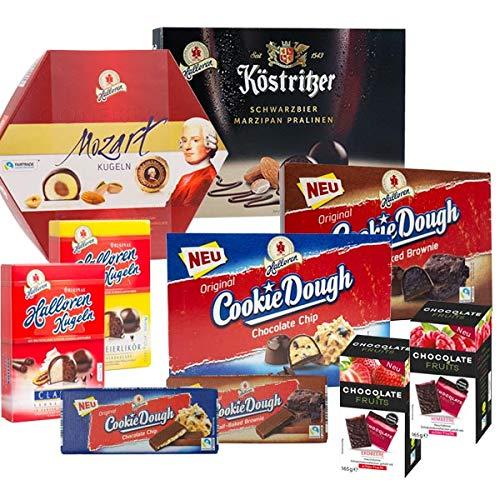 Halloren Set 10-tlg., inkl. Mozartkugeln, Original Halloren Kugeln, Tafelschokolade, Cookie Dough & Chocolate Fruits