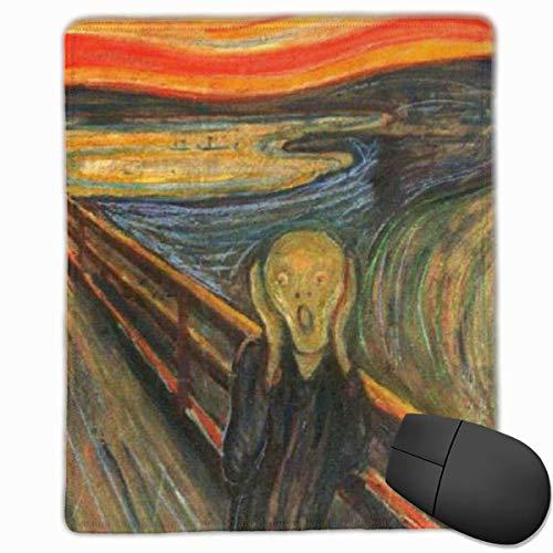 Alfombrilla para ratón Gaming, The Scream de Edvard Munch Alfombrilla para ratón Personalización Personalizada Alfombrilla para ratón para Juegos y Oficina Borde Cosido Office Thicker M
