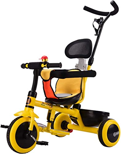 TH Dreirad Kinderdreirad 4 In1 Mit Silent Wheels Und Directional Push Rod 18-72 Monate 80-120cm,B
