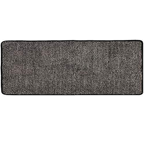 "WOMHOPE Ultra-Long Indoor Doormat Front Door Anti-Slip Rubber Backing Absorbs Mud Doormat Dirt Trapper Rug Low-Profile Shoes Scraper Edge Covering Machine Washable (24"" x 59"", Black and Grey)"
