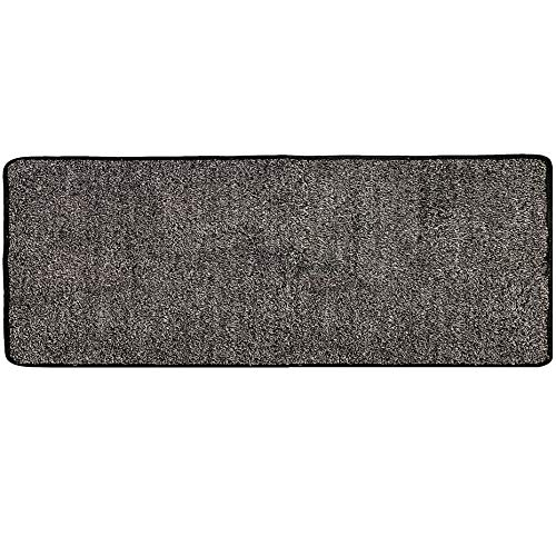 "WOMHOPE Ultra-Long Indoor Doormat Front Door Anti-Slip Rubber Backing Absorbs Mud Doormat Dirt Trapper Rug Low-Profile Shoes Scraper Edge Covering Machine Washable (24"" x 59"", Black and Grey)"
