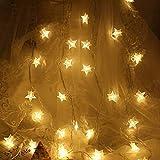 Lichterkette Sterne, Se-Mirrorworld LED Lichterketten USB 3m 20 LEDs Warmweiße Sternen, Blinken, für Kinderzimmer, Balkon, Geburtstag, Wand, Weihnachten, Dekoration [Energieklasse A+++] - 4