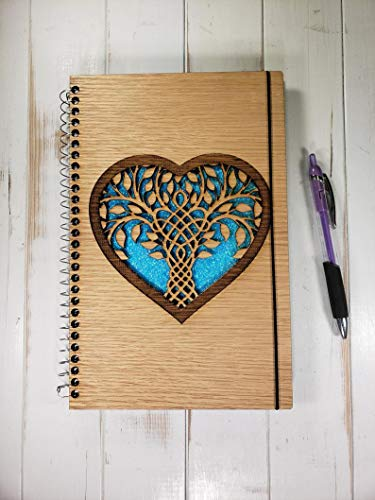 Celtic Tree of Life in Heart Journal Lined - Journal 6'x9'- Can Be Made Left Handed