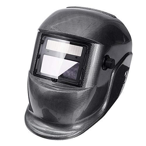 Herramienta Accesorios Solar Auto Oscurecimiento Casco de Soldadura Arc Tig Mig Máscara Cara Molienda Fibra de Carbono