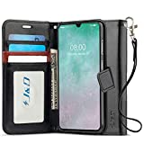 J&D Case Compatible for Galaxy A70 Case, Wallet Stand Slim Fit Heavy Duty Protective Shock Resistant Flip Cover Wallet Case for Samsung Galaxy A70 Wallet, Black