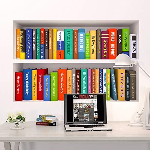 BLOUR 3D Buch Bücherregal Lustige Wohnzimmer Kinder Schlafzimmer Studie Dekorationen Wandaufkleber Home Decor Poster Wandbild Wallpaper