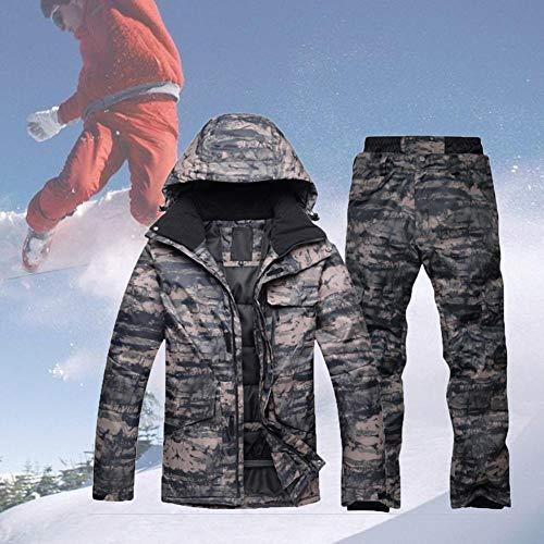 aheadad Snowboard Suit Set de invierno chaqueta de esqu para hombre exterior impermeable clida y gruesa, de camuflaje