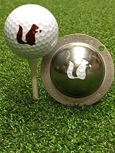 Tin-Cup Go Nuts Golfball-Markierer, Stahl, Einheitsgröße