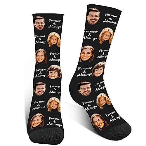Luincas Calcetines Personalizados Cara, Estampados Calcetines Graciosos, Animales Calcetin Personalizado,Calcetines Divertidos Hombre Mujer
