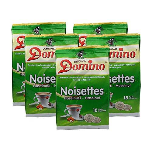 5 x DOMINO Kaffeepads Haselnuss 18 Pads