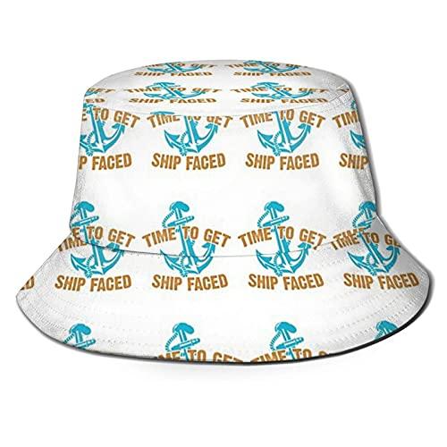 jhgfd7523 Chrhns - Sombrero de pescador unisex con diseño de té de barco