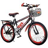 YUCHEN- Bicicletas for niños Velocidad variable \ u200b \ u200biciclo niños Montaña buggy al aire libre viaje bicicleta estudiante bicicleta bicicleta 3 ~ 15 años de edad bicicleta (Color: Azul, Tamañ