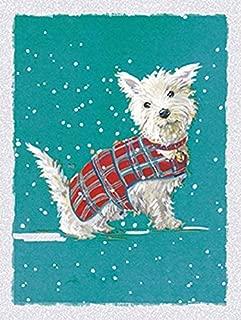 Box of 8 Scotty Dog Mini Christmas Cards Luxury Xmas Card Boxes