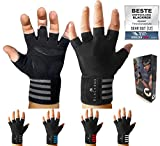 BLACKROX Trainingshandschuhe Vergleichssieger Fitness Handschuhe mit Handgelenkstütze Herren u....