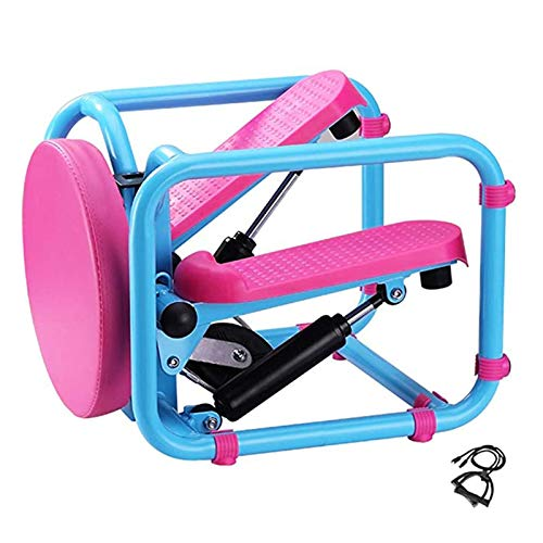 3 in 1 Mini Stair Stepper, Portable Fitness Stepper Foot Stepping Motion Cardio Exercise Machine with LCD Display,Pink