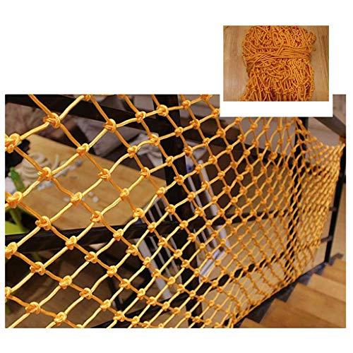 YXB Kindersicherheitsnetz Gelbes Seilnetz, Kindersicherheitsnetz Treppenschutznetz Isolationsseilnetz Zaunnetz Gartendekoration Netz Webnetz Klettern Hängematte Schaukelnetz 2m3m (Größe: 4 * 4M