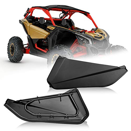 Kemimoto X3 Lower Half Door Panel Inserts with Metal Lower Frame N Plastic Panels compatible with Can Am Maverick X3 XRS XDS 2017-2020