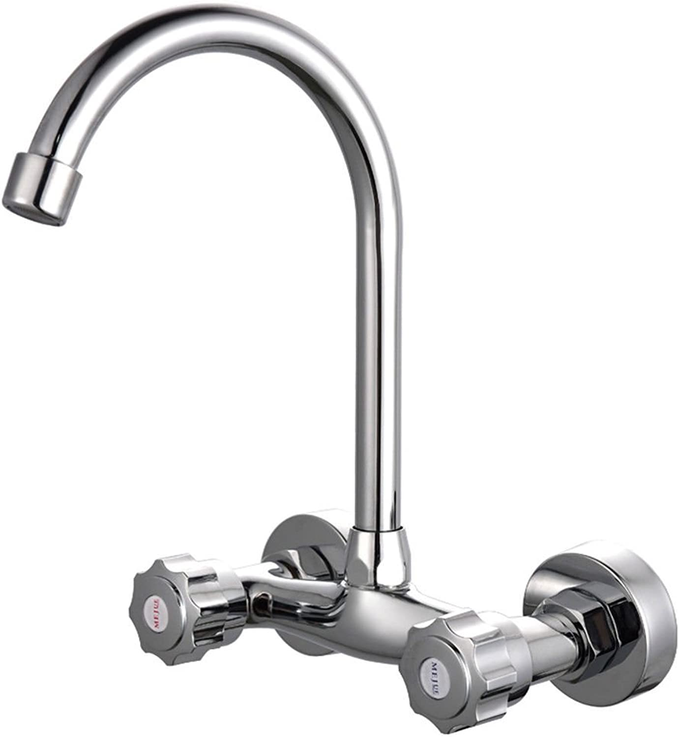 AQMMi Bathroom Sink Faucet Basin Mixer Tap Brass in-Wall Hot and Cold Water Wall-Mounted Basin Sink Tap Bathroom Bar Faucet