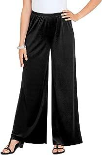 Velvet Wide Leg Elastic Waist Pants - Bell Bottoms