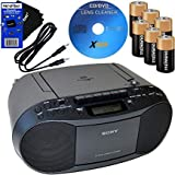 HeroFiber Sony Portable Cd Player Boombox with Am Fm Radio & Cassette Tape