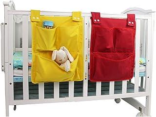 IUwnHceE Barnsäng barnhänge organisatör spjälsäng lagring ren påse-blöja behållare leksak hängande förvaringspåse 13,7 tum...