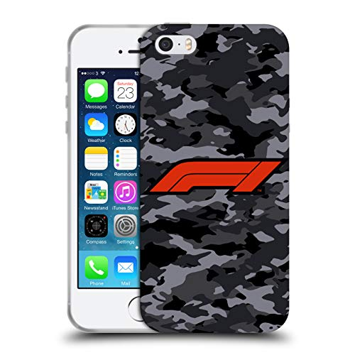Head Case Designs Ufficiale Formula 1 F1 Camouflage Logo Cover in Morbido Gel Compatibile con Apple iPhone 5 / iPhone 5s / iPhone SE 2016