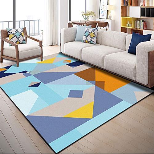 JTYX CARPETS tapijt, rechthoekig, geometrisch, eenvoudig, modern, creatieve kunst, meerkleurig, radio, helder, zacht, comfortabel, voor woonkamer, slaapkamer