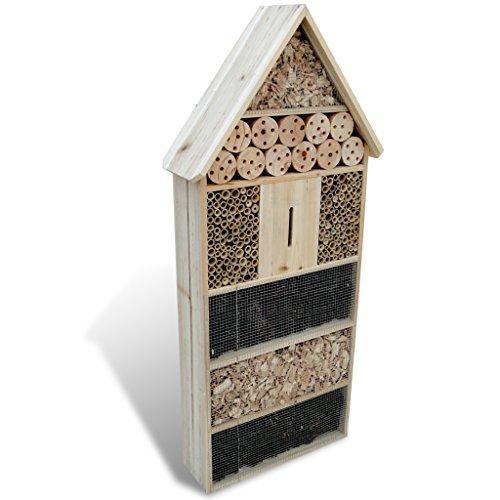 Festnight Groß Insektenhotel Insektenhaus aus Stabiles Holz Insekten Platz 50 x 15 x 100 cm