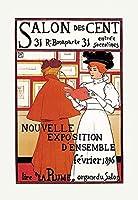 "Salon Des Cent Fineアートキャンバス印刷( 20"" x30"" )"