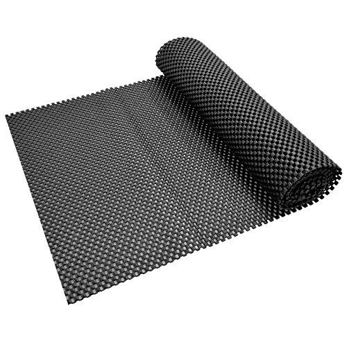 ASAB Anti-Rutsch-Matte für Teppiche, Mehrzweck-Anti-Rutsch-Matte, 30 x 120 cm, Schwarz