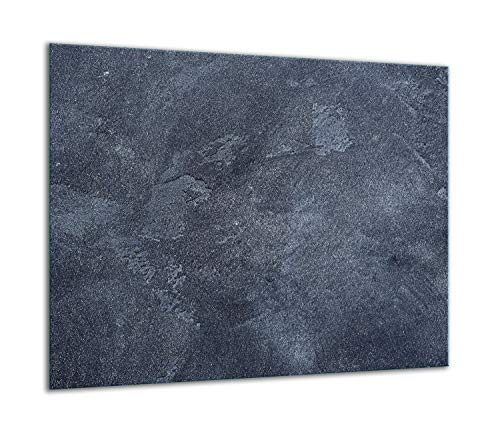 TMK - Copri piano cottura induzione 60x52 cm copertura per piano cottura in vetroceramica 1 pezzi universale per piastre di cottura paraspruzzi tagliere in vetro temprato come decorazione Ardesia