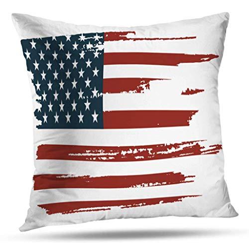 Fodere per Cuscini, Grunge Bandiera Americana Stati Uniti America Astratto Cuscino per Divano casa Federa Federa Regalo a Doppia Faccia 45X45CM