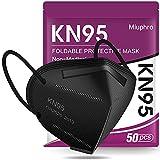 KN95 Face Mask 50 Pack, Miuphro Black KN95 Masks, 5...