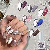 15ml Soak Off 9D Wide Cat eyes Magnetic Gel Polish Bright Silver UV Gel Nail Polish Enamel Lacquer Glitter Velvet Nail Art Varnish