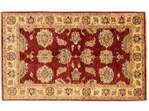 Teppichprinz Chobi Ziegler 147x92 cm Handgeknüpft 150 x 100 Ferahan Wohraumteppich Mamluk