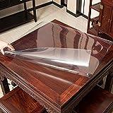 Transparente Mantel Impermeable/Plástico A Prueba De Aceite Fácil De Limpiar, Mesa De Cocina De Larga Duración, Festival De La Fiesta Familiar (Cuadrado De 160 Cm X(Size:78x78cm,Color:Thickness 2mm)