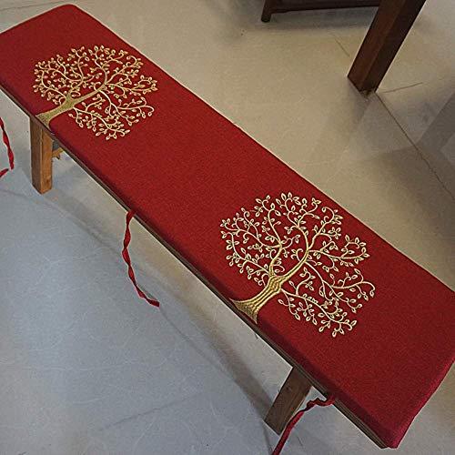 JY&WIN Thicken Rectangular Dining Chair Cushions, Patio Long Seat Cushion, Lace-Up Non-slip Bench Cushion, Indoor Outdoor Sofa Cushion R 30x60cm (11.8x23.6inch)