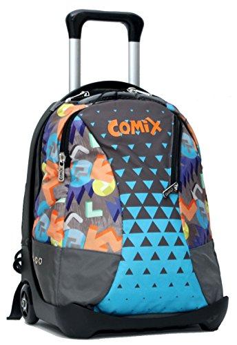 Zaino Trolley Staccabile Celeste X Comix