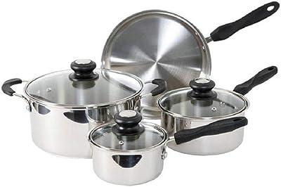 Lynns SATURN 350S Cookware Set, 7 Piece, Silver
