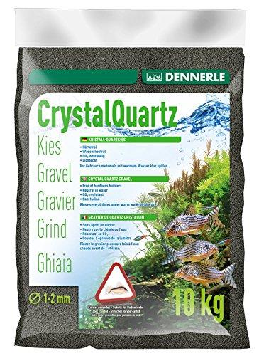 Dennerle Aquarienkies Diamantschwarz 10 kg - Bodengrund für Aquarien - Körnung 1-2 mm